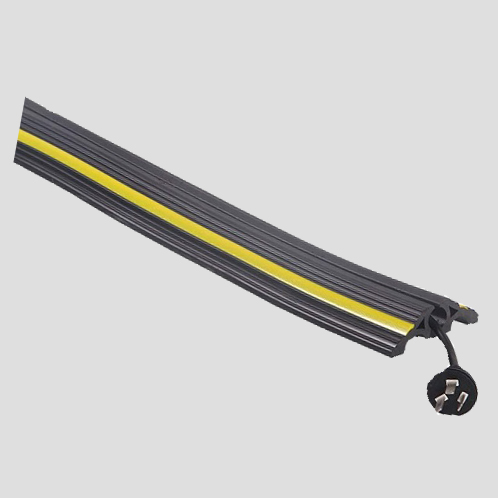Premier6000mmBlackRubberCablesWithYellowStripes